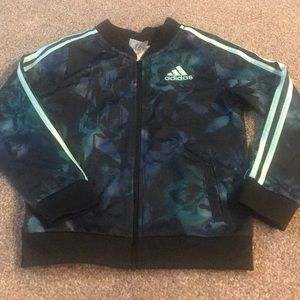 Adidas girls warm up jacket